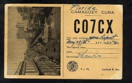 Cuba 1938 Postcard QSL Card To USA (S120) - Unclassified