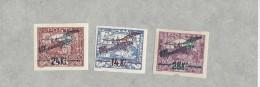 10694 - Tchécoslovaquie Poste Aérienne N° 1-3  Avec Charnières  (Attestation Cueni 1955) - Poste Aérienne