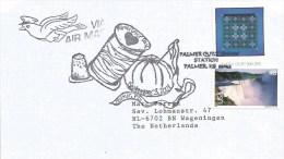 USA 2001 Palmer Amish Quilt Textile Handstamp Cover - Textiel