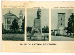 SALUTI DA ANZOLA EMILIA - 1946 - C665 - Bologna