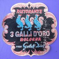 HOTEL ALBERGO PENSIONE BOLOGNA DALLI DI ORO ITALIA ITALY TAG STICKER DECAL LUGGAGE LABEL ETIQUETTE AUFKLEBER - Hotel Labels