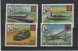 NIGER : SIR ROXLAND HILL -  N° Yvert  477/480 Obli. - Niger (1960-...)
