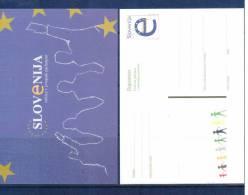 Slowenien / Slovenia 2004 EU Parlamentwahl Ganzsache / Postcard - Europa-CEPT