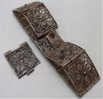 Filigranschmuck, Antikes Armband, Silber 800, Mit Ersatzglied - Bracelets