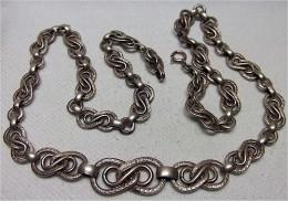 Antike Silberkette, Im Verlauf 7-11mm - 46 Cm Lang - Necklaces/Chains
