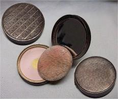 Alte Puderdose In Silber 925 - Silverware