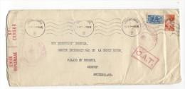 10699  -  Lettre  De Johannesburg Pour Genève  Cachet Rectangulaire Rouge O.A.T. - Autres