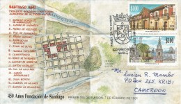 Chile 2001 Concepcion Town Buildings Architecture FDC Cover - Chili