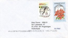 Jamaica 2002 Black River Olympic Games Athletics Running Christmas Cover - Jamaica (1962-...)