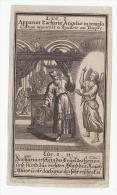Gravure - Litho - Steendruk : Luc I. Apparuit Zacharia Angelus In Templo- L´Ange Apparoit A Zacarie Au Temple - Images Religieuses