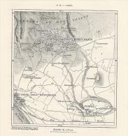 Cartina Francese Del 1876  POMPEI  Torre Annunziata Boscotrecase Boscoreale   Etc. - Karten