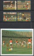 St Lucia 1982 - World Cup Football, Spain - Set + Miniature Sheet SG611-MS615 MNH Cat £7.10 SG2015 - St.Lucie (1979-...)