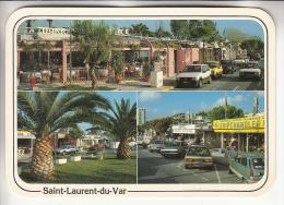 ST LAURENT DU VAR 06 - Le Port : Jolie Multivues Coins Arrondis Automobiles FIAT R5 - CPM GF 1990 RARE ? (0 Sur Le Site) - Saint-Laurent-du-Var