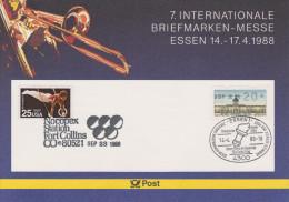 Sp 120) Coubertin, Olympia Seoul1988: SSt Essen, Fort Collins Ua; Briefmarken Aus USA Und Korea Süd: Turnen, Tennis - Ete 1988: Séoul