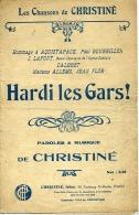 PARTITION MILITARIA HARDI LES GARS ZOUAVES CHRISTIN� 1915 AQUISTAPACE DALBRET FLOR