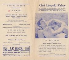 CINE LEOPOLD PALACE (Bruxelles) -  Film 'LE SAUVEUR' (1971) - Cinema Advertisement