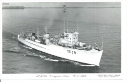 """CP PHOTO: """" ACACIA """" - DRAGUEUR-COTIER M 638 - 20-11-1963( BATEAU DE GUERRE ) - Guerre"""