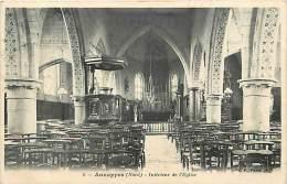 Dept Div- Nord  - Ref W105  -    Annappes - Interieur De L Eglise -  Carte Bon Etat - - Andere Gemeenten
