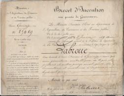 Brevet D´Invention De 15 Ans/Garniture Métallique De Locomotives à Vapeur/Labroue/Bordeaux/1 869  DIP20 - Diplomas Y Calificaciones Escolares