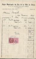 Régie Municipale Du Gaz De La Ville De Dreux / Eure Et Loir/Facture/1948  GEF57 - Electricity & Gas