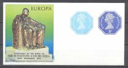 Grande-Bretagne Entier Postal Europa Sir Winston Churchill - Stamped Stationery, Airletters & Aerogrammes