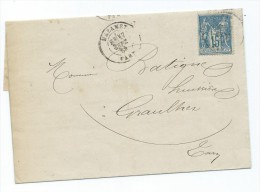 Lettre De Mazamet Pour Graulhet  1884 - Storia Postale