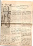 JOURNAL THE HOME FORUM DU 21 NOVEMBRE 1944 - War 1939-45