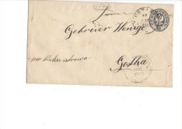 10701  -  Entier Postal 10.08.1883 Pour Gotha Via Kalisch - 1857-1916 Empire