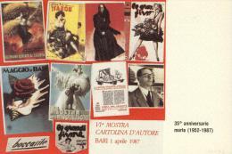 1987 OMAGGIO A BOCCASILE  LEVANTE   BARI     MANIFESTAZIONE FILATELICA  MOSTRA CARTOLINA D´EPOCA TIRATURA  NUMERATA - Demonstrations