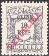 GUINÉ- (PORTEADO)-1911,  Tipo De 1904, Com Sobrecarga «REPUBLICA»   10 R.  * MH  Afinsa  Nº 12 - Portuguese Guinea