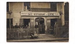 CARTE PHOTO COMMERCE : CAFE RESTAURANT DU CENTRE - BILLARD  -