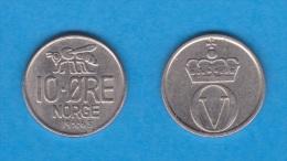 NORUEGA   10 ORE  1.965  Cu Ni   KM#411   MBC/VF     DL-11.088 - Noruega