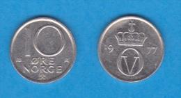 NORUEGA   10 ORE  1.977  Cu Ni   KM#416   MBC/VF     DL-11.089 - Noruega