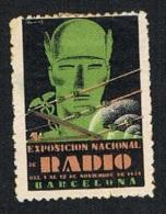 Barcelona Exposición Radio 1931 Nuevo Char. Sin Goma (sombras De Tiempo) - Non Classés