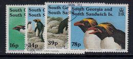 D0371 South Georgia And South Sandwich Islands 1994, SG 227-30  Penguins Birds  Used - Falkland Islands