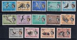 X0001 ASCENSION 1963, SG 70-83 Birds  Fine Used - Ascension (Ile De L')