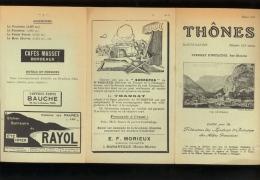 Dépliant Touristique THONES Haute Savoie  1927 - Tourism Brochures