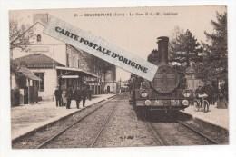 38 - BEAUREPAIRE - LA GARE P.L.M. - INTRERIEUR - LOCOMOTIVE EN PREMIER PLAN - Beaurepaire