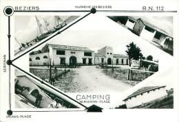 Cpsm SERIGNAN PLAGE 34 Multivues, Camping - Autres Communes