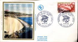 FDC Barrage De Vouglans - Vouglans (39) Du 15 Février 1969 - 1960-1969