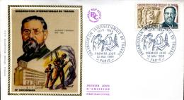 FDC  50ème Anniversaire Organisation Internationale Du Travail - Paris (75) Du 10 Mai 1969 - 1960-1969