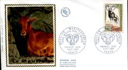FDC  Mouflon Méditerranéen - Paris (75) Du 11 Octobre 1969 - 1960-1969