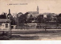 Savenay.. Belle Vue De La Ville.. Ligne De Chemin De Fer - Savenay