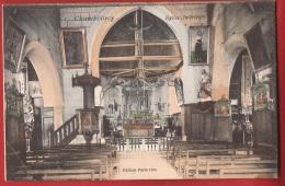 POH-22 Intérieur De L'Eglise De Chambourcy . Circulé Sous Enveloppe - Chambourcy