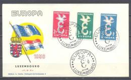 Europa 1958 Luxembourg FDC Enveloppe Premier Jour YT N°548/550 - Europa-CEPT