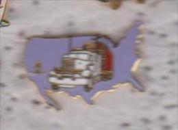 Gros Pin's CAMION SUR LES USA - Transportes