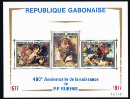 1977  400è Ann Naissance De Rubens, Tableaux    Bloc Feuillet ** - Gabon (1960-...)