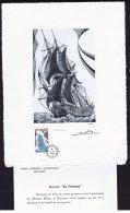 1988   Voilier «La Fortune»  Lithographie Grand Format Par Le Graveur Claude Haley  25 X 332 Cm Tirage Limit - Imperforates, Proofs & Errors