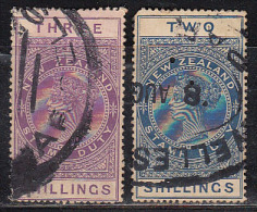 2 Diff., Postal Fiscal Used, New Zealand ,  As Scan - Postal Fiscal Stamps