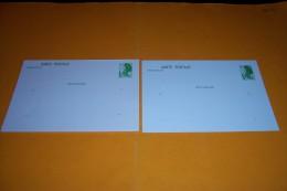 2 CARTE POSTALE AVEC MARIANNE DE GANDON 1.60  + 1.90 - Entiers Postaux
